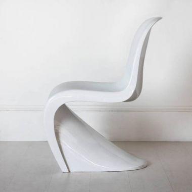 glossy white panton classic chair sample sale stardust