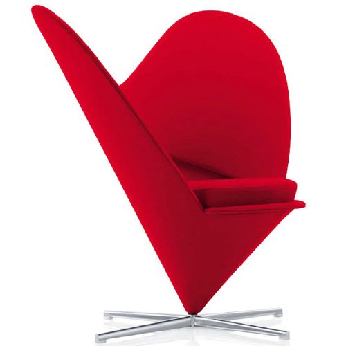 Charmant Vitra Miniature 5.25 Inch Heart Cone Chair ...