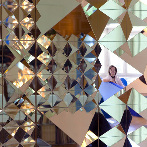 Mirror Wall Sculpture verner panton mirror sculpture 9 pyramids | stardust