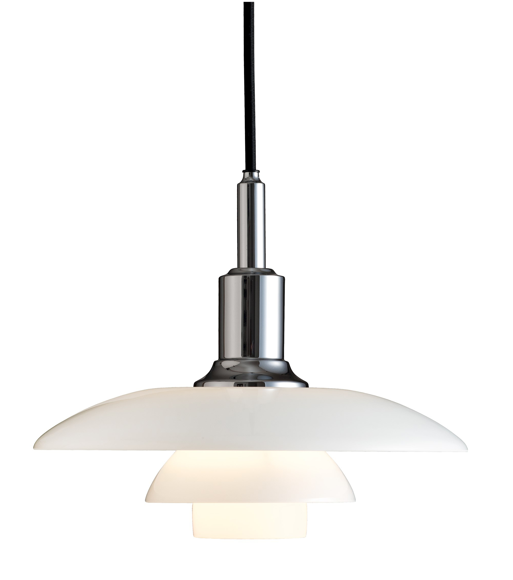Louis Poulsen Ph 3 2 White Glass Pendant Light