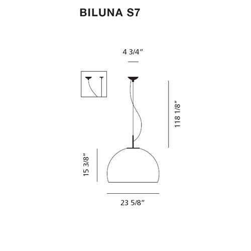 What Height Is Right To Hang A Pendant Light: Prandina Biluna S70 Dimmable Pendant Lamp By Luc Ramael