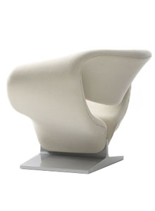 Superb Artifort Ribbon Chair By Pierre Paulin In Kvadrat Tonus 100 ...