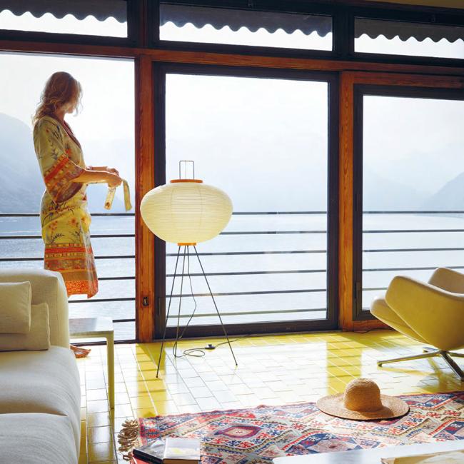 Akari 10a Isamu Noguchi Anese Paper Shade Floor Lamp Natural