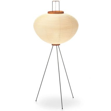 Japanese 10A Shoji Paper Noguchi Floor Lamp w. Washi Akari ...