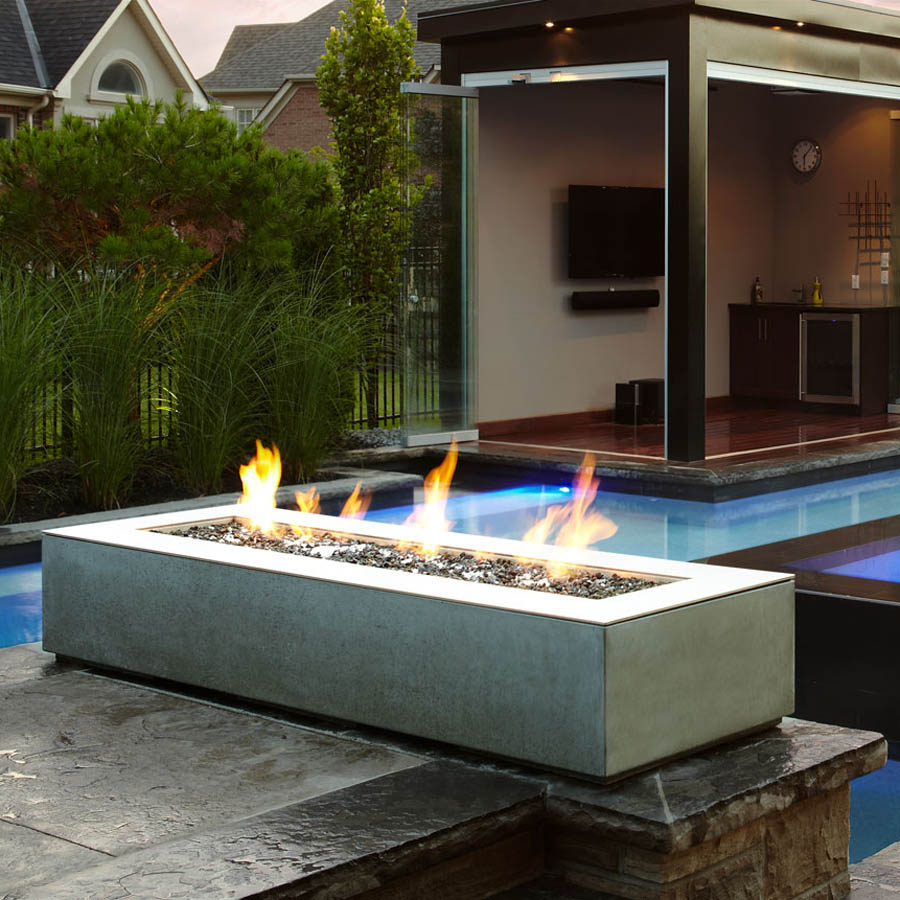 Paloform Robata Modern Rectangular Outdoor Fire Pit. Robata is the ultimate modern outdoor fire place. Long and low