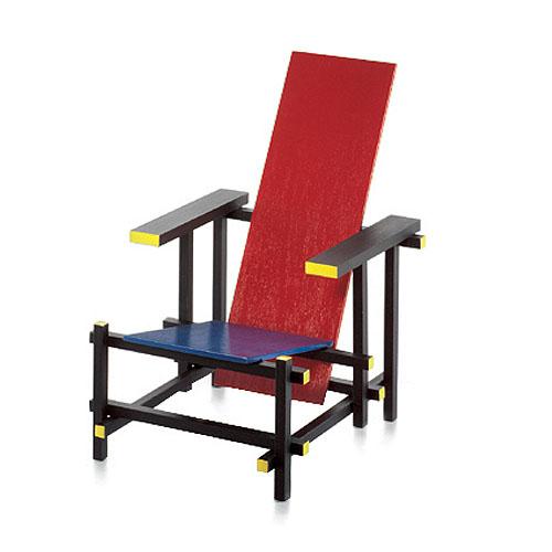 Vitra Miniature Rood Blauwe Stoel Chair By Gerrit Rietveld