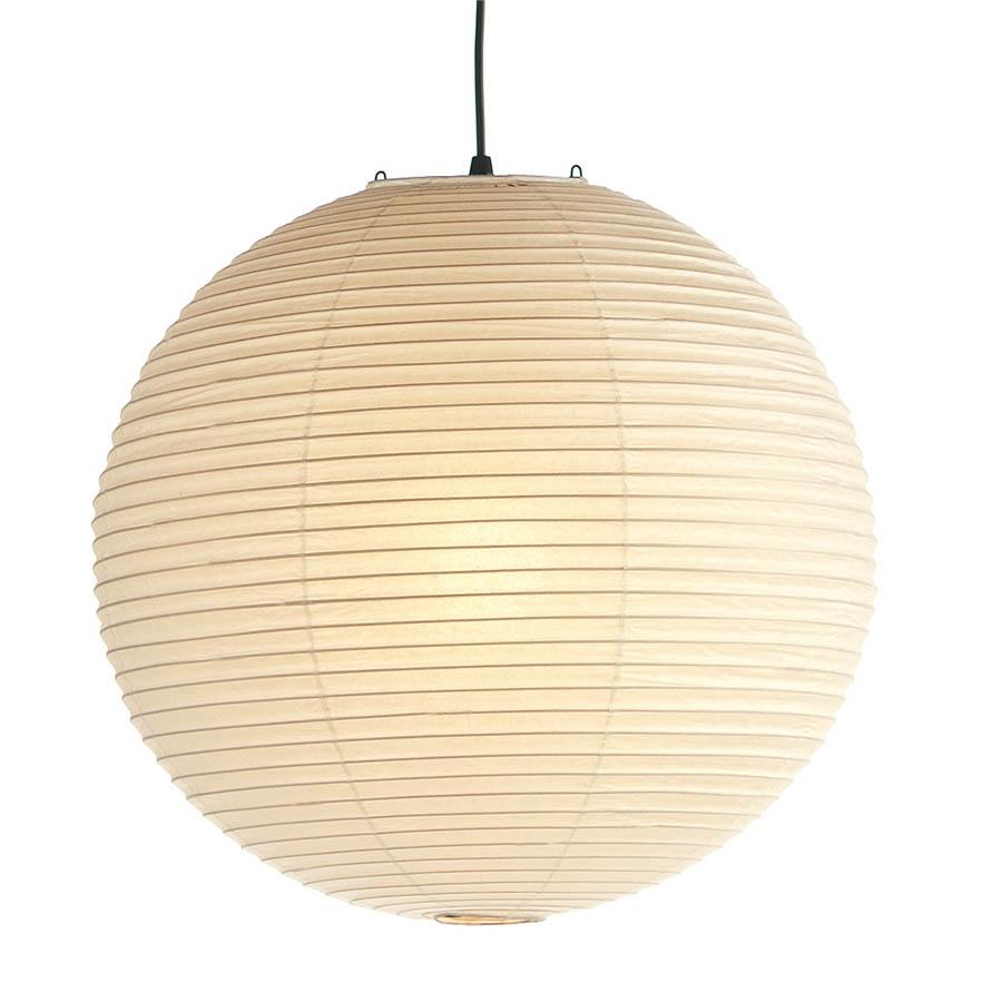 Noguchi akari round lamp 55a75a straight bamboo ribbing stardust