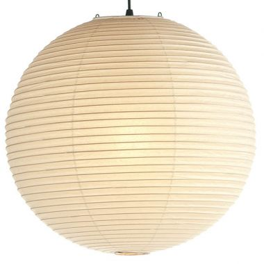 Noguchi Akari Round Lamp 75a Straight Bamboo Ribbing