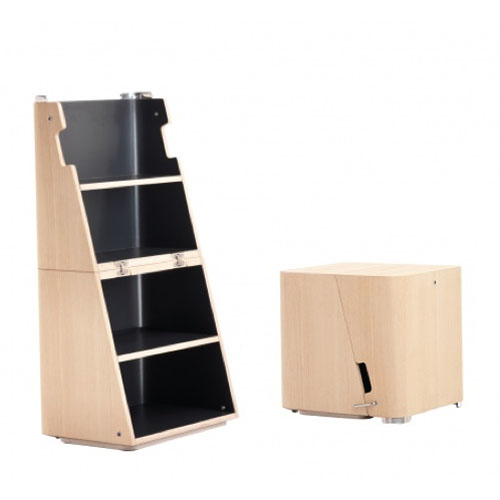 Cerruti Baleri Scalo Modern Stool And Step Ladder Stardust