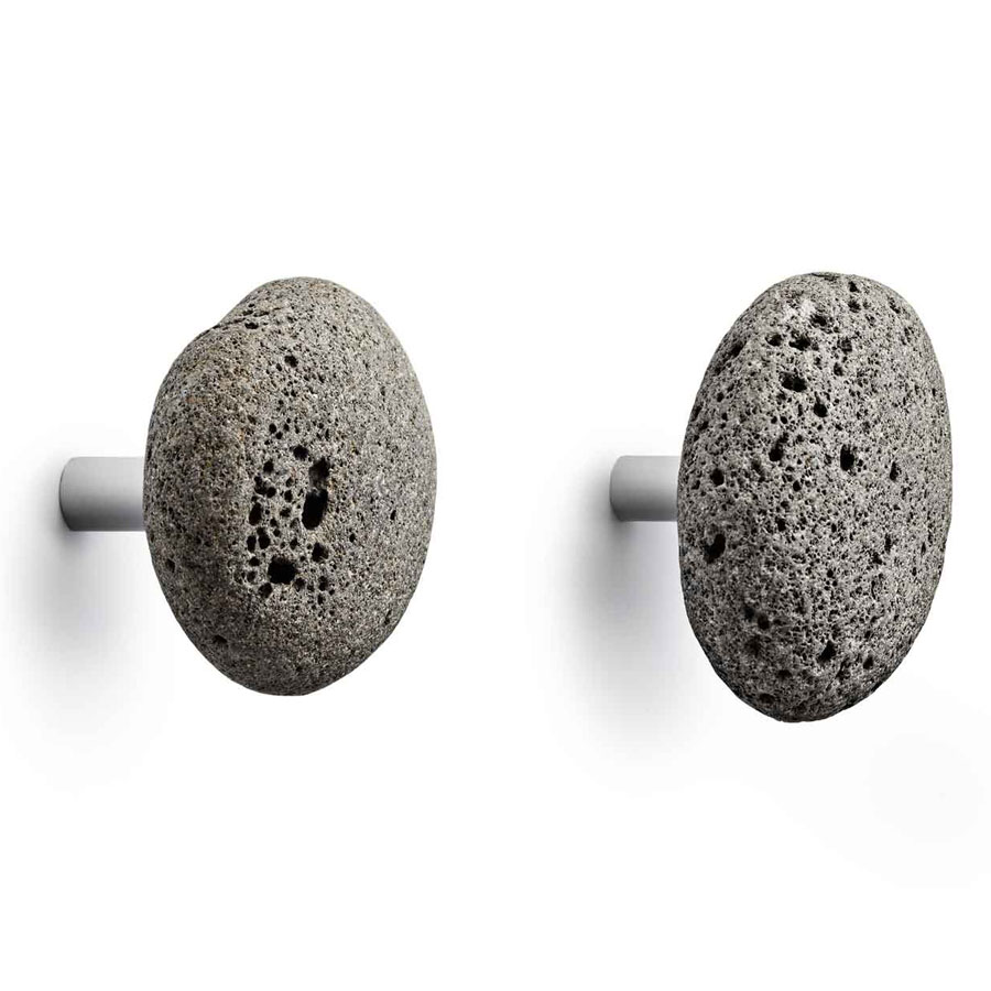 STONE Hooks Modern Wall Mounted Coat Hook Set/2 by Normann Copenhagen