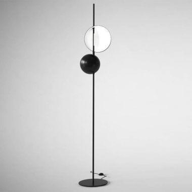 Superluna 397 floor lamp stardust superluna 397 adjustable modern led floor lamp oluce aloadofball Image collections
