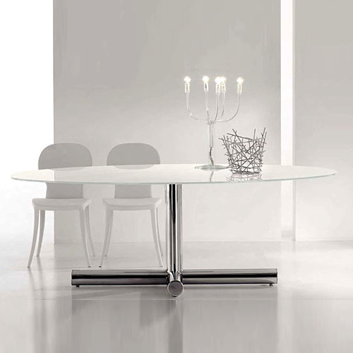 Bonaldo Surfer Modern Oval Dining Table ...