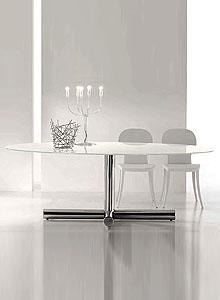 Bonaldo Surfer Modern Oval Dining Table By Giuseppe Vigano Stardust - Modern oval dining table with leaf