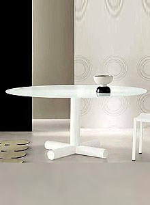 Bonaldo Surfer Modern Round Dining Table By Giuseppe Vigano Stardust - All modern round dining table