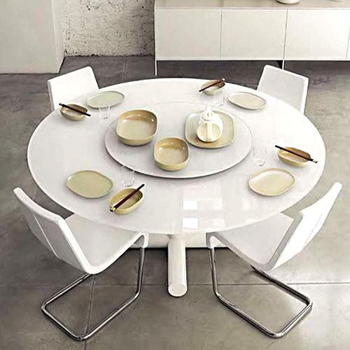 Bonaldo Surfer Modern Round Dining Table