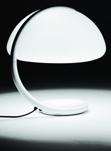 Martinelli Luce Serpente Modern Table Lamp By Elio Martinelli, White ...