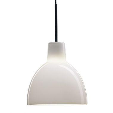 Toldbod glass pendant light white stardust white louis poulsen toldbod 155220 handlbown glass pendant light white aloadofball Choice Image