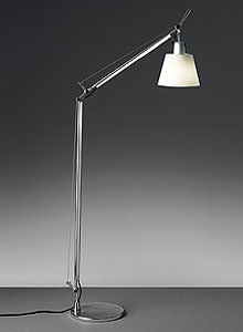 Artemide tolomeo reading floor lamp with shade stardust for Tolomeo reading floor lamp with parchment shade
