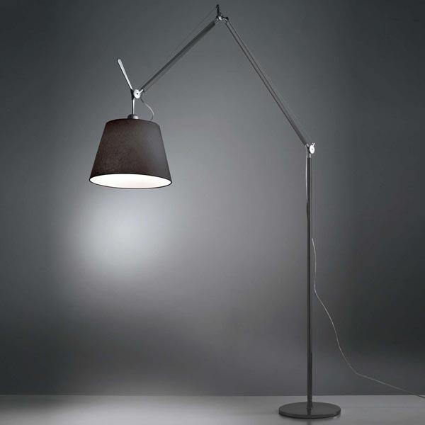 Tolomeo Mega Floor Lamp Black Open Box Floor Sample