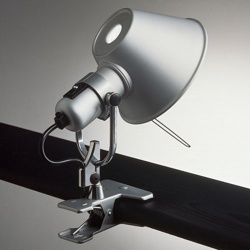 artemide tolomeo clip on lamp spot light stardust. Black Bedroom Furniture Sets. Home Design Ideas