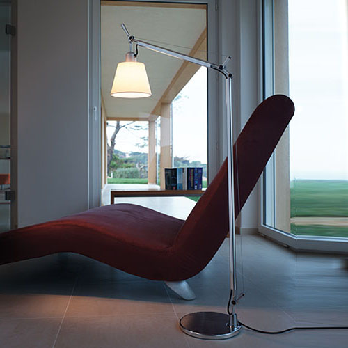 Artemide Tolomeo Reading Floor Lamp With Shade | Stardust
