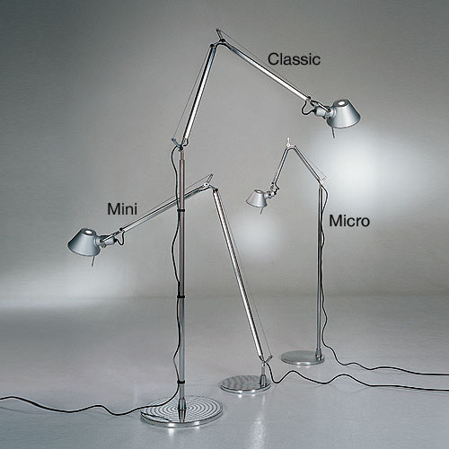 Artemide Tolomeo Micro Floor Light Reading Lamp with Arms | Stardust