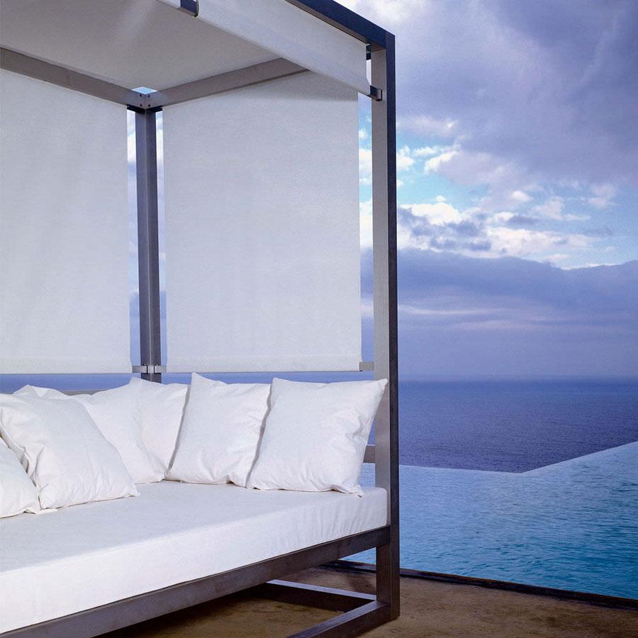 Elegant Tres Al Fresco Covered Outdoor Daybed ...