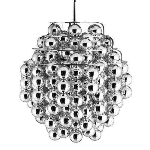 verner panton ball lamp in silver stardust. Black Bedroom Furniture Sets. Home Design Ideas