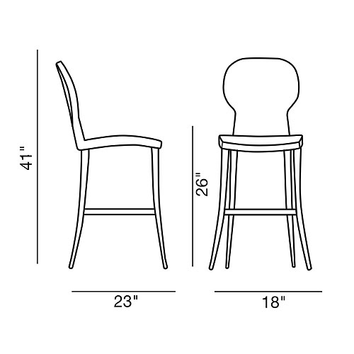 Bar Chairs Dimensions Modern Bar Stool or Chair