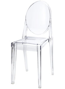 Victoria Ghost Transparent Acrylic Chair By Kartell Sale