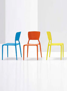 Bonaldo Viento Chair Solid Modern Dining Or Office Chair