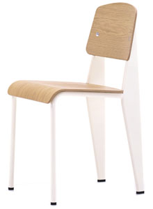 Vitra Standard Chair Cream Frame Natural Oak By Jean Prouve ...