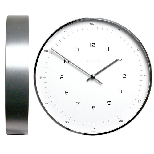 max bill modern office wall clock with numbersjunghans | stardust