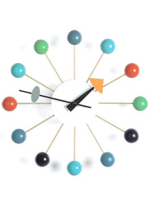 Vitra [MULTI-COLOURED] Ball Clock by George Nelson, w. Multi-Ball