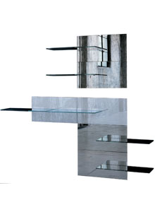 Glas Italia Fixtrik Modern Wall Mounted Shelving Unit