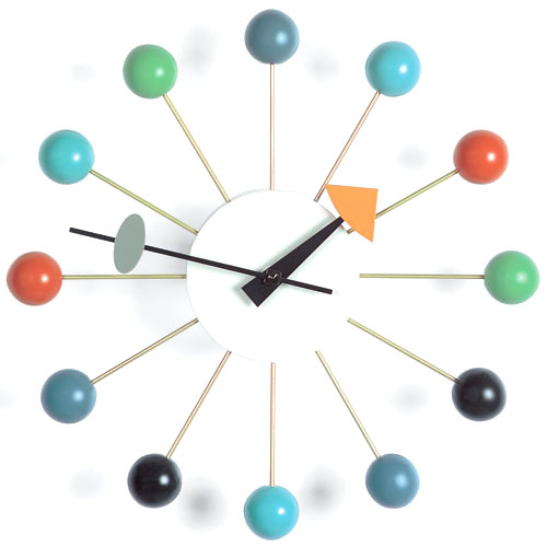 vitra nelson ball wall clock multi coloured by george nelson. Black Bedroom Furniture Sets. Home Design Ideas