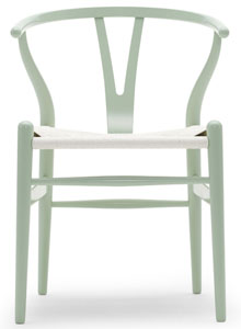 hans wegner ch24 wishbone chair in citrus sea green