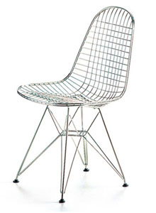 Vitra miniature dkr wire chair by charles and for Chaise wire eames