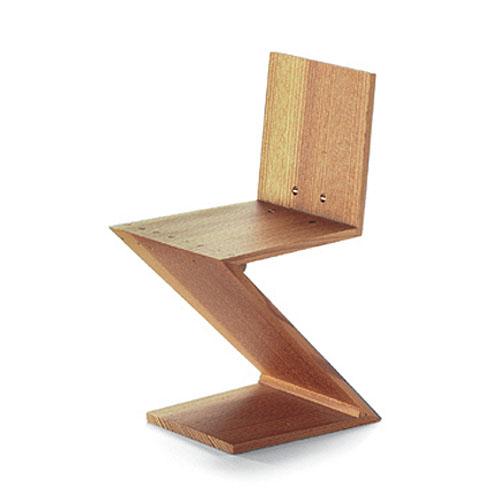Vitra miniature zig zag stoel chair by gerrit rietveld for Design stuhl zig zag